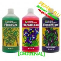 Комплект Flora Series GHE Original для жесткой воды 3х1 л